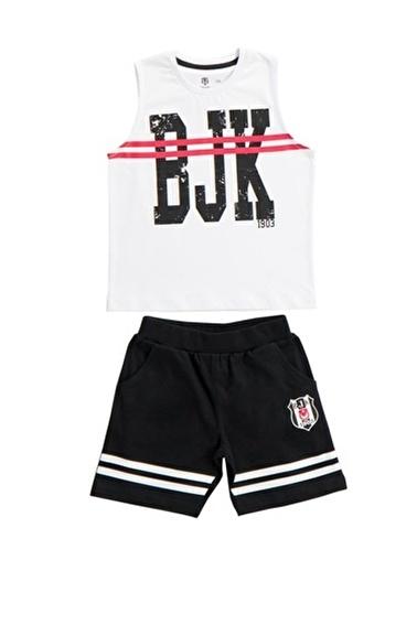 Beşiktaş Beşiktaş Lisanslı Çocuk Atlet Şort 2'Li Takım Beyaz Beyaz